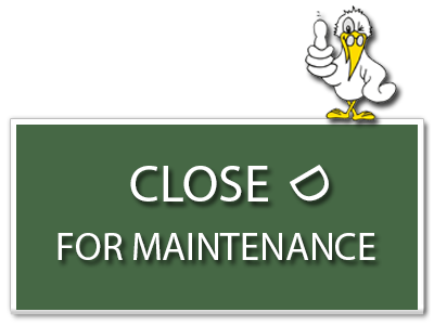 Button Closed For Maintenance 400x300